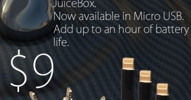 最小的iPhone Lightning 充電棒 Juicebox